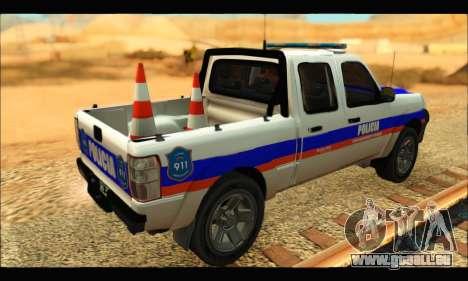 Ford Ranger 2011 Policia Bonaerense pour GTA San Andreas laissé vue