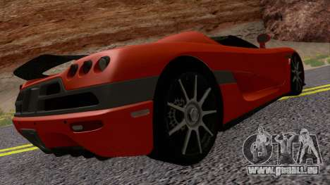 Koenigsegg CCX 2006 Road Version pour GTA San Andreas vue de droite