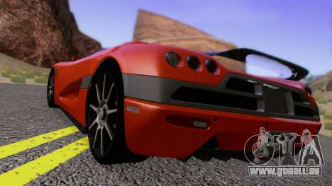 Koenigsegg CCX 2006 Road Version für GTA San Andreas zurück linke Ansicht