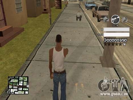 C-HUD Gray pour GTA San Andreas deuxième écran