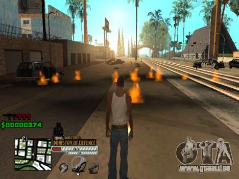 C-HUD Air Force für GTA San Andreas her Screenshot