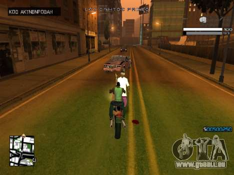 Simple C-HUD für GTA San Andreas her Screenshot