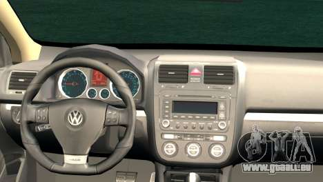Volkswagen Golf Mk5 pour GTA San Andreas sur la vue arrière gauche