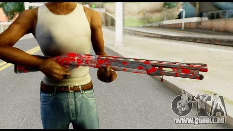 Combat Shotgun with Blood für GTA San Andreas dritten Screenshot