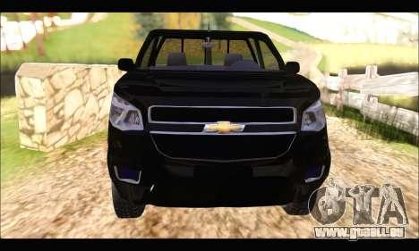 Chevrolet S10 Cabina Simple 2014 pour GTA San Andreas vue de droite