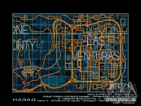 Carte des secteurs dans le style de course pour GTA San Andreas