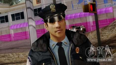 Police Skin 6 pour GTA San Andreas troisième écran