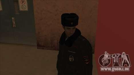 La Police en Russie, l'hiver formulaire pour GTA San Andreas cinquième écran