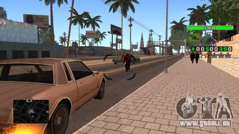 Light Green C-HUD pour GTA San Andreas quatrième écran