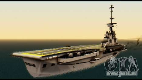Colossus Aircraft Carrier für GTA San Andreas linke Ansicht