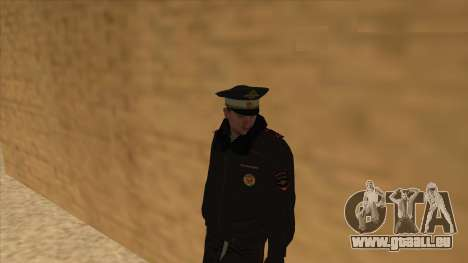 La Police en Russie, l'hiver formulaire pour GTA San Andreas dixième écran