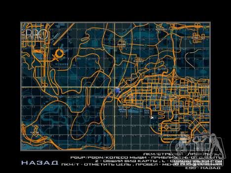 Carte des secteurs dans le style de course pour GTA San Andreas deuxième écran