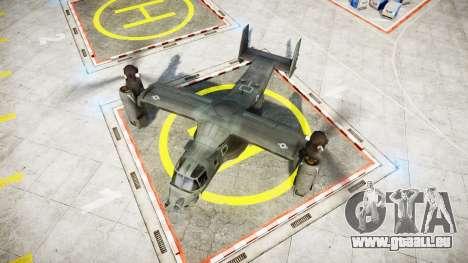 Bell CV-22 Osprey [EPM] pour GTA 4 Vue arrière de la gauche