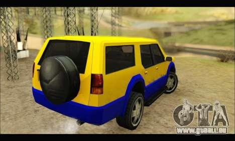 New Landstalker pour GTA San Andreas sur la vue arrière gauche