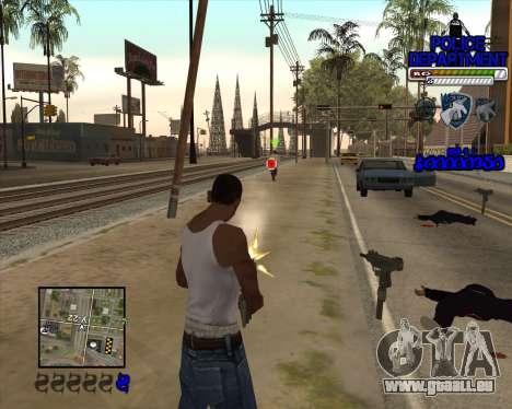 PD HUD pour GTA San Andreas troisième écran