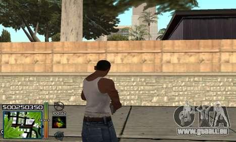 С-HUD RastaMan pour GTA San Andreas troisième écran