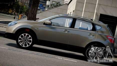 Nissan Qashqai 2011 pour GTA 4 Vue arrière