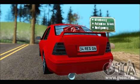 Volkswagen Bora für GTA San Andreas zurück linke Ansicht
