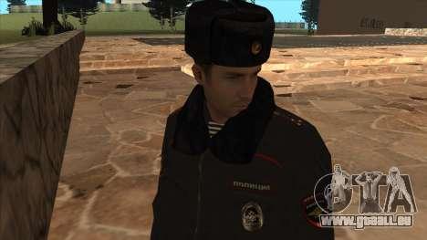Die Polizei in Russland - winter-Formular für GTA San Andreas sechsten Screenshot