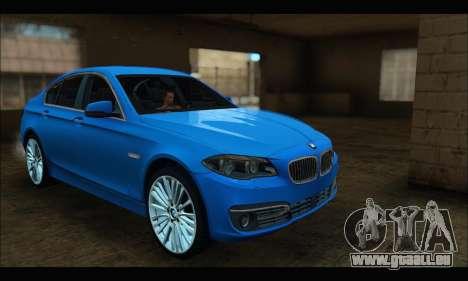 BMW 5 series F10 2014 pour GTA San Andreas