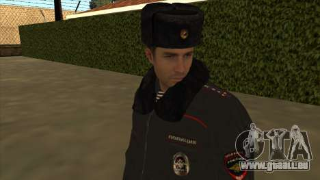 La Police en Russie, l'hiver formulaire pour GTA San Andreas septième écran
