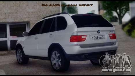 BMW X5 E53 für GTA San Andreas linke Ansicht