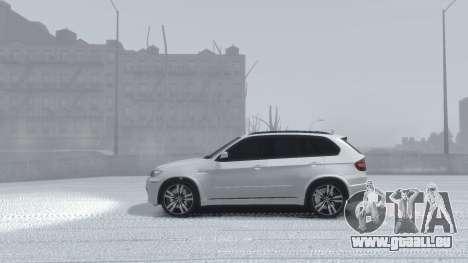 BMW X5M 2011 pour GTA 4 Vue arrière