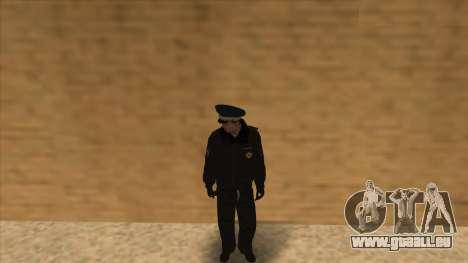 La Police en Russie, l'hiver formulaire pour GTA San Andreas onzième écran