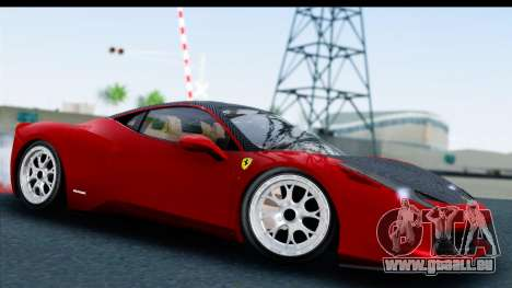 Ferrari 458 Italia Stanced für GTA San Andreas