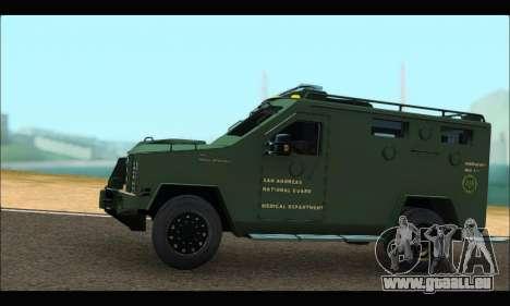 Lenco Bearcat SANG MedEvac 2009 pour GTA San Andreas laissé vue