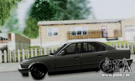 BMW 525 E34 Rims pour GTA San Andreas vue arrière