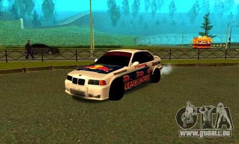 BMW M3 E36 RedBull pour GTA San Andreas laissé vue