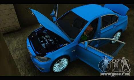 BMW 5 series F10 2014 pour GTA San Andreas vue de droite