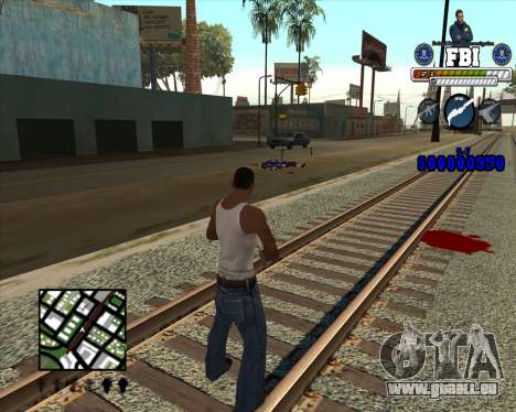 C-HUD for FBI pour GTA San Andreas troisième écran
