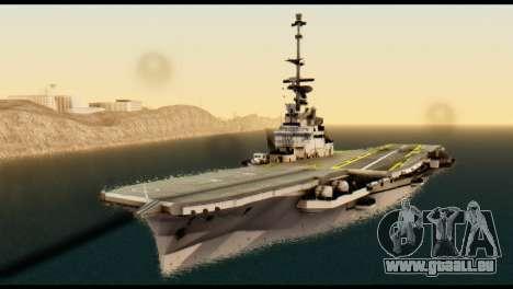 Colossus Aircraft Carrier pour GTA San Andreas vue de droite