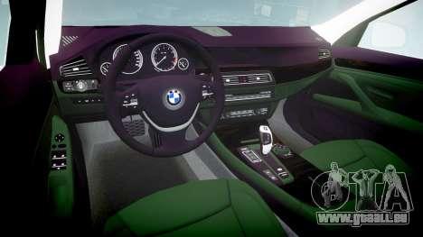 BMW 525d F11 2014 Facelift Civilian für GTA 4 Innenansicht
