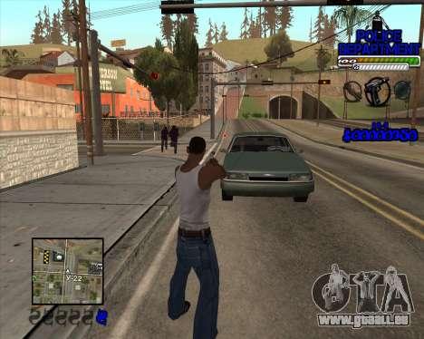 PD HUD pour GTA San Andreas deuxième écran