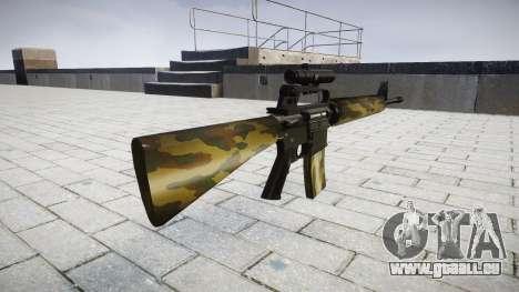 Le M16A2 fusil [optique] flore pour GTA 4 secondes d'écran