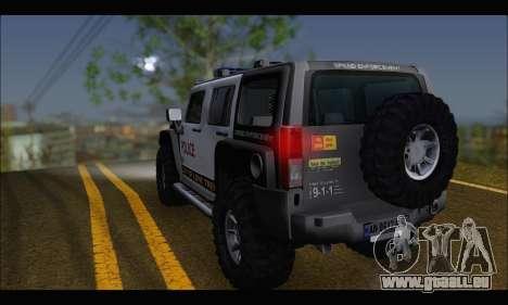Hummer H3 Police pour GTA San Andreas laissé vue