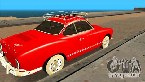 Volkswagen Karmann Ghia für GTA San Andreas zurück linke Ansicht