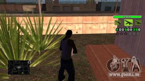 Light Green C-HUD pour GTA San Andreas deuxième écran