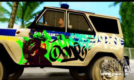 UAZ hunter 315195 für GTA San Andreas zurück linke Ansicht