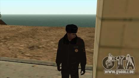La Police en Russie, l'hiver formulaire pour GTA San Andreas deuxième écran