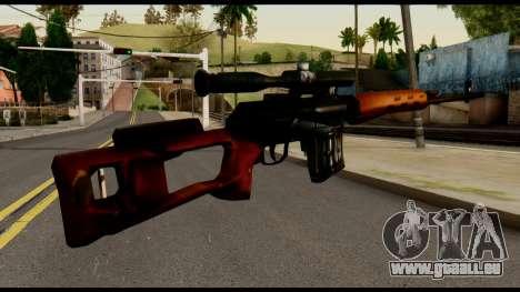 SVD from Metal Gear Solid für GTA San Andreas zweiten Screenshot