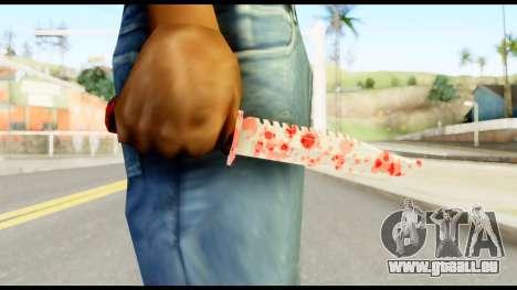Knife with Blood pour GTA San Andreas troisième écran