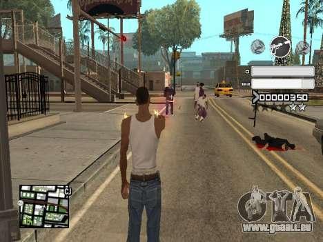 C-HUD Gray pour GTA San Andreas quatrième écran