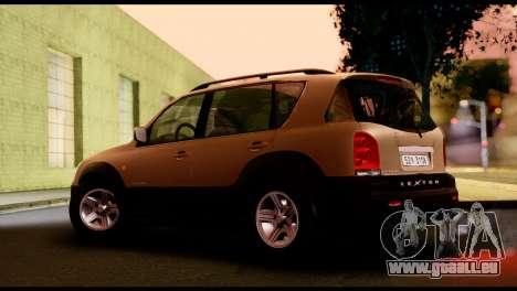 SsangYong Rexton 2005 pour GTA San Andreas sur la vue arrière gauche