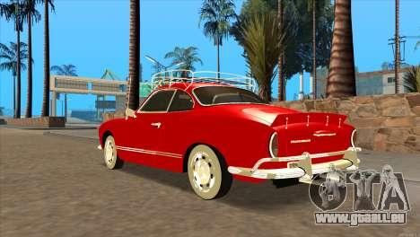Volkswagen Karmann Ghia pour GTA San Andreas laissé vue