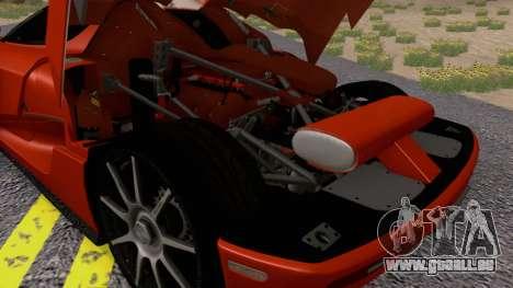 Koenigsegg CCX 2006 Road Version pour GTA San Andreas vue arrière
