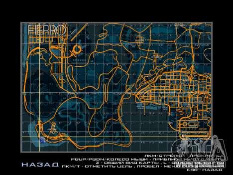 Carte des secteurs dans le style de course pour GTA San Andreas quatrième écran
